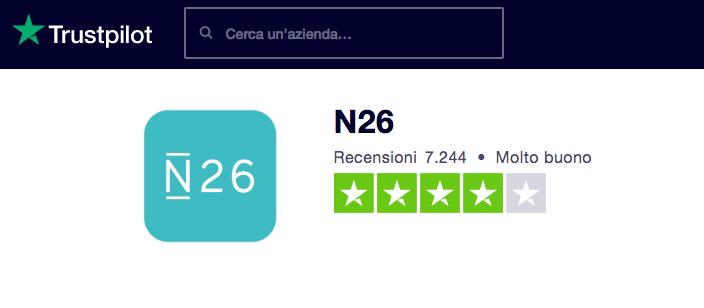 N26 recensioni
