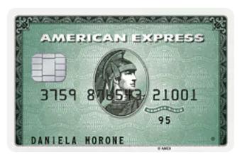 Carta di Credito American Express Verde
